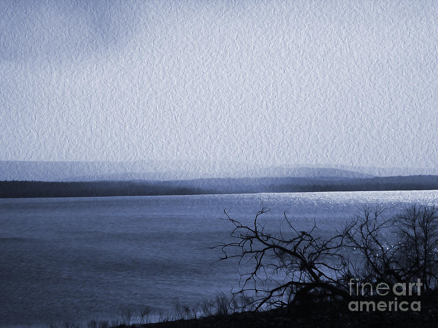 Wister Lake Photograph - The Victor Landing Blues by R McLellan