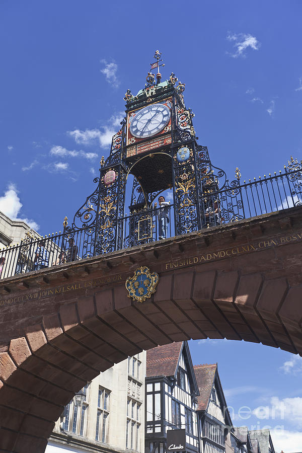The Victorian Eastgate Clock On The City Walls In Chester ...