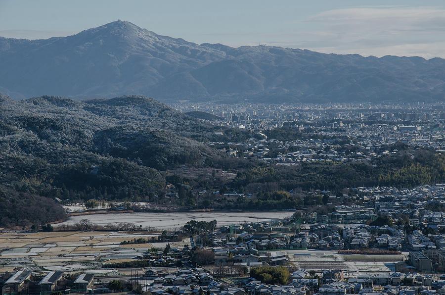 The View From Ogurayama With Snow, Kyoto Photograph by Kaoru Hayashi