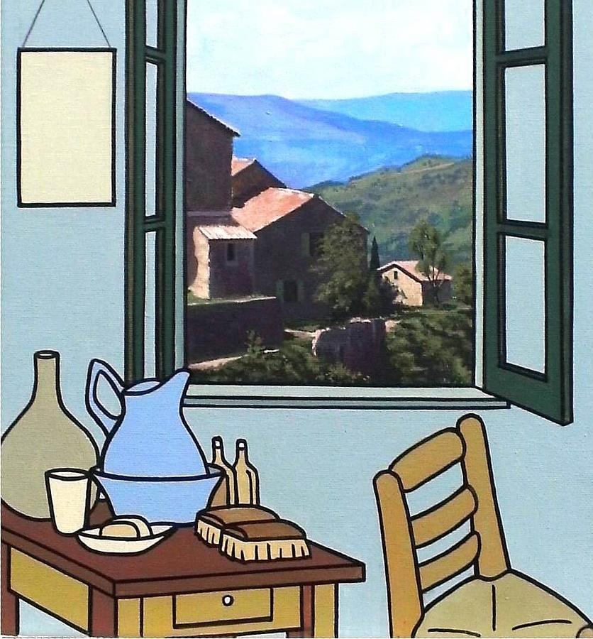 Vincent Painting - The View From Vincents Room. Sold by Kenneth North