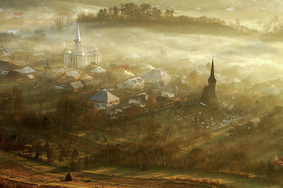 Town Photograph - The Village Born From Fog... by