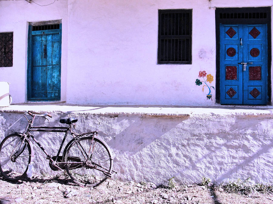 Cycle Photograph - The Village House by Makarand Purohit