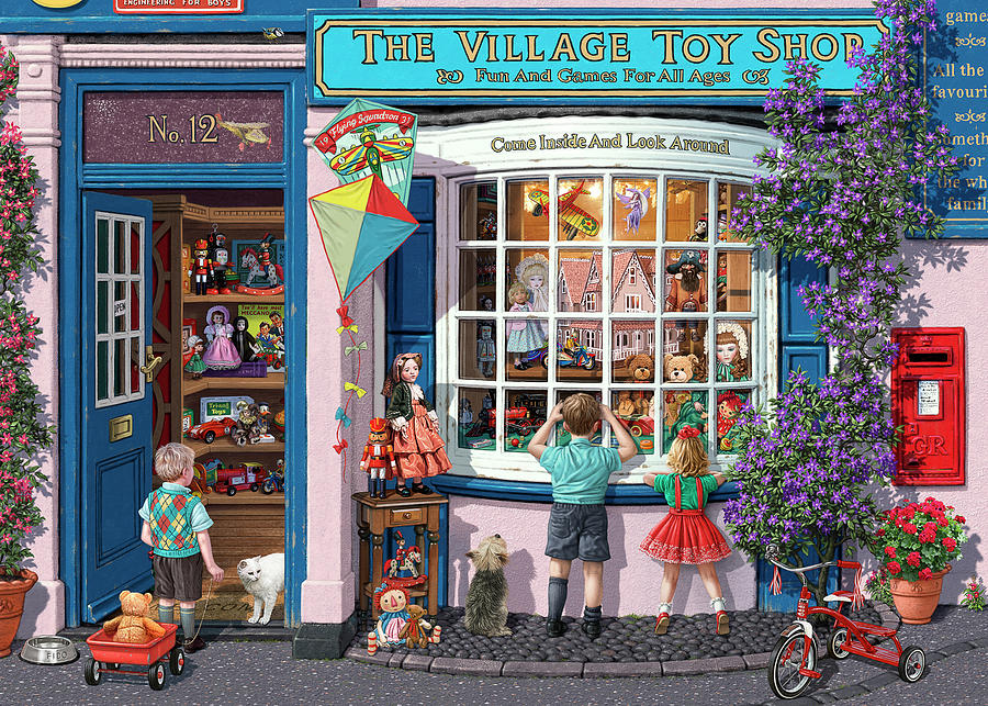 The Village Toy Shop Painting By Mgl Meiklejohn Graphics