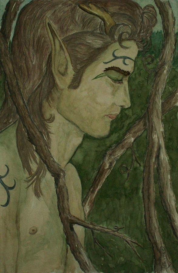 Faerie Painting - The Vine King by Carrie Viscome Skinner