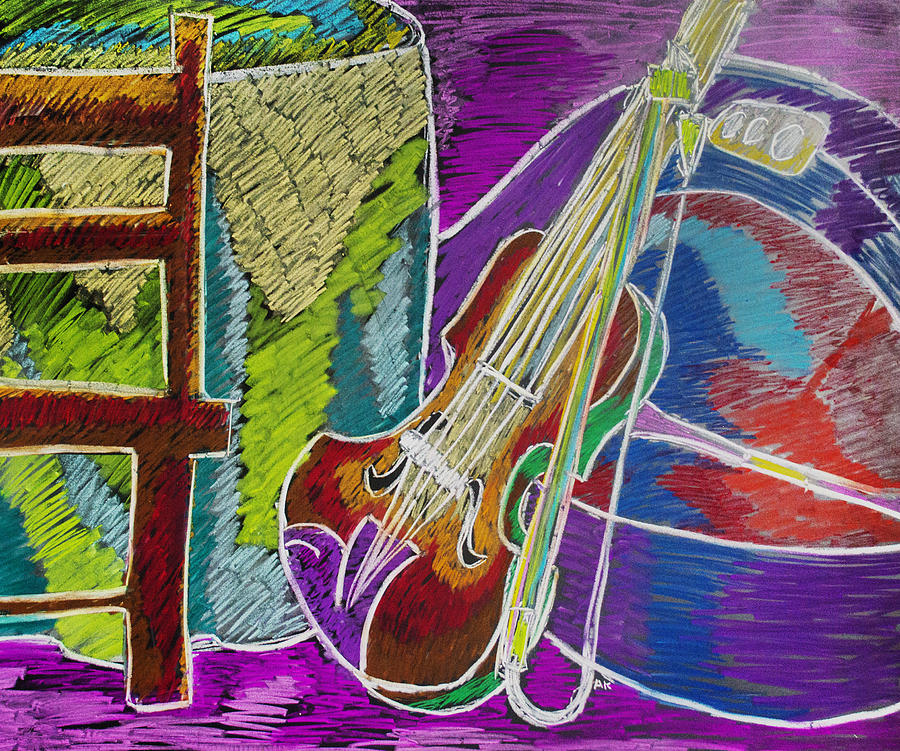 Violin Mixed Media - The Violin by Ashley King
