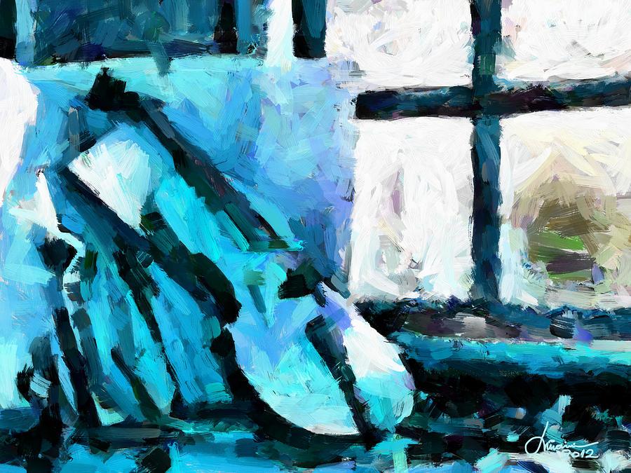 Blue Digital Art - The Violin Tnm by Vincent DiNovici