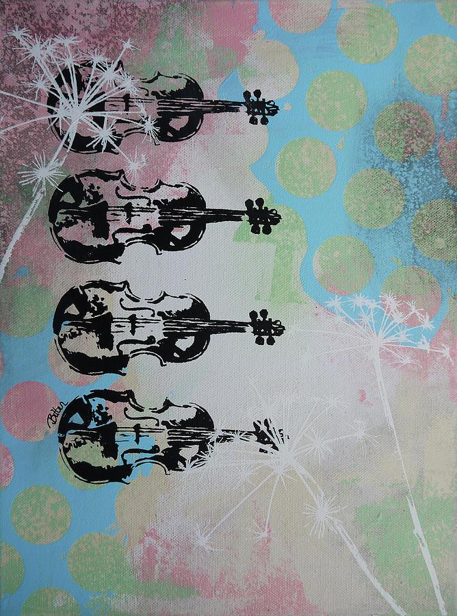 Music Painting - The Violins by Bitten Kari