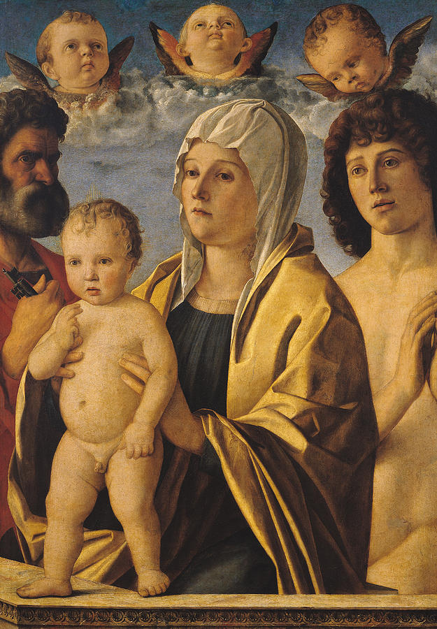 The Virgin And Child With St Peter And St Sebastian