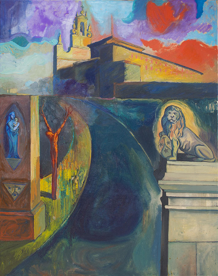 Religion Painting - The Virgin And The Lion by Fernando Alvarez