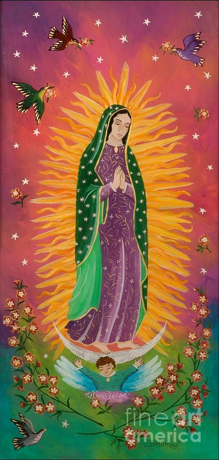 Virgin De Guadalupe Painting - The Virgin of Guadalupe by Sue Betanzos