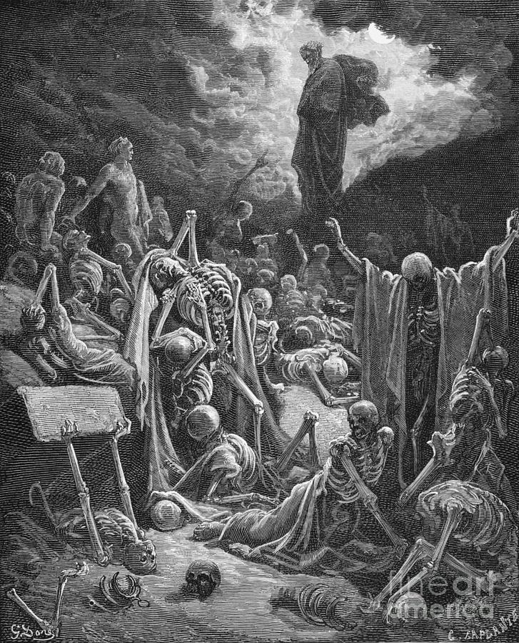 Prophet Painting - The Vision Of The Valley Of Dry Bones by Gustave Dore
