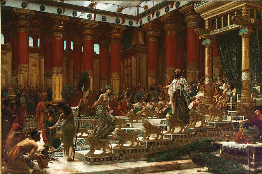 Edward John Poynter Painting - The Visit Of The Queen Of Sheba To King Solomon by Edward John Poynter