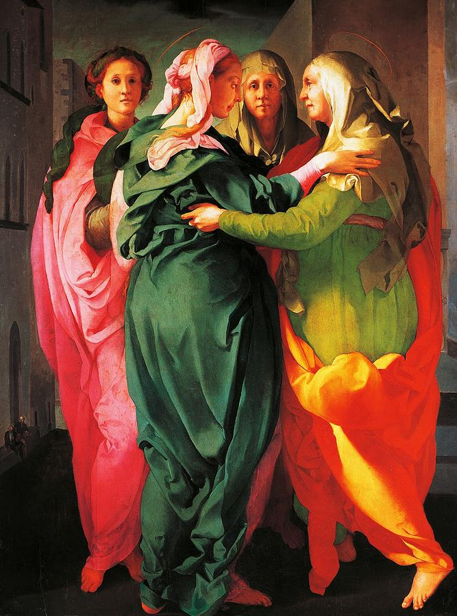 Painting Painting - The Visitation by Giacomo Carucci