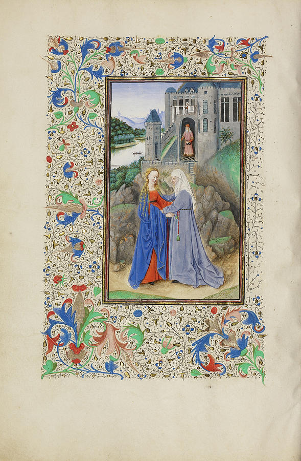 Visitation Painting - The Visitation Master Of The Llangattock Hours, Flemish by Litz Collection
