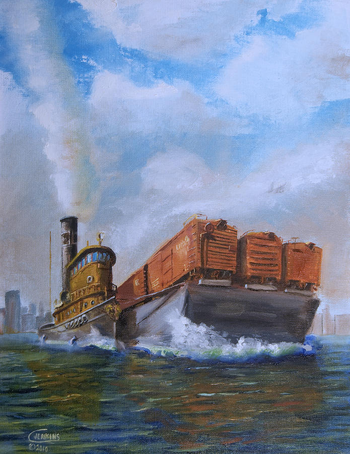 Tug Painting - The Vital Link by Christopher Jenkins