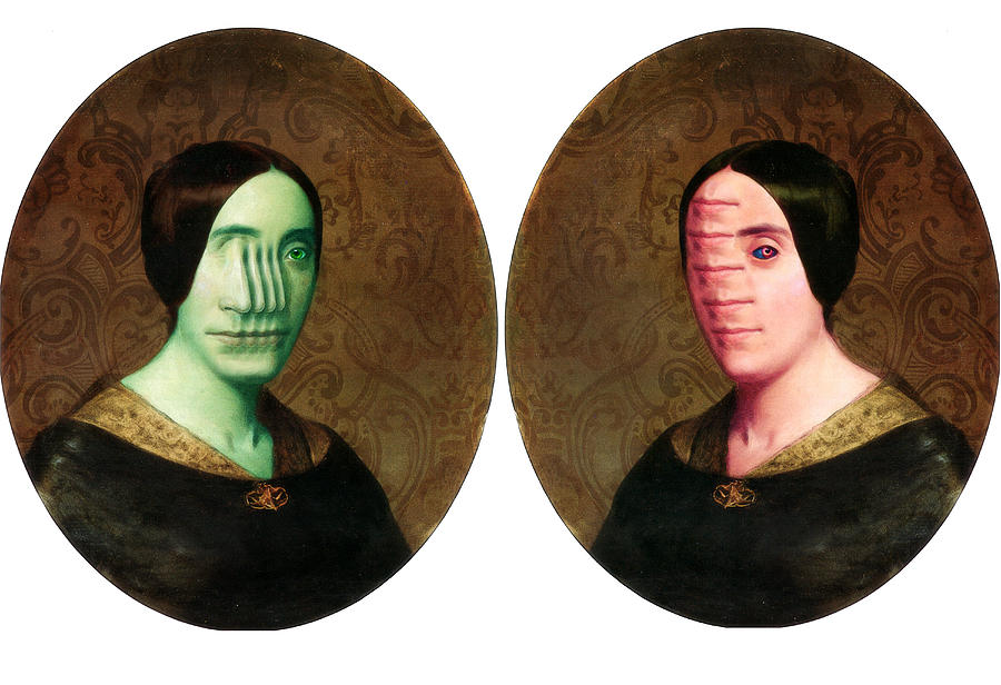 Collage Photograph - The Vitruvian Sisters by John Magnet Bell
