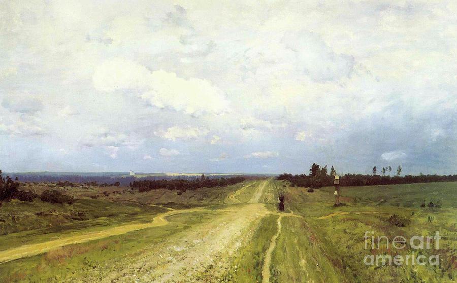 Siberian Painting - The Vladimirka Road by Isaak Ilyich Levitan