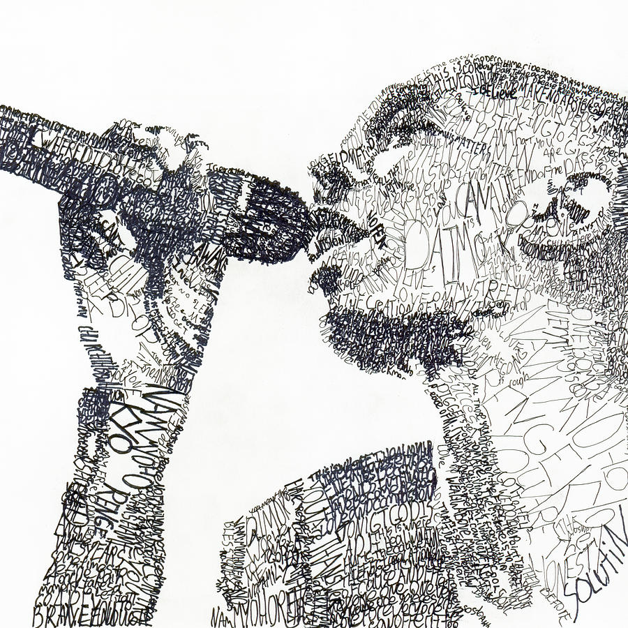 Singer Drawing - Maxi Jazz by Michael Volpicelli