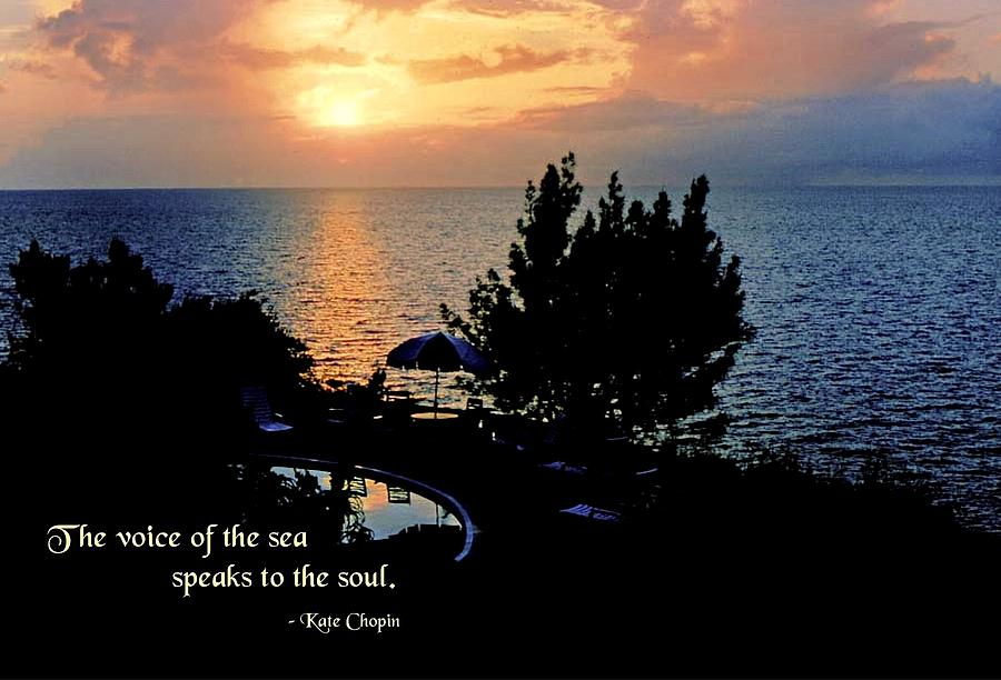 Quotation Photograph - The Voice Of The Sea by Mike Flynn