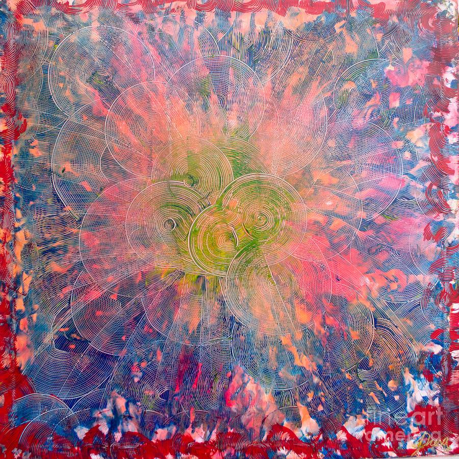 Circles Painting - The Vortex by Presa Hall