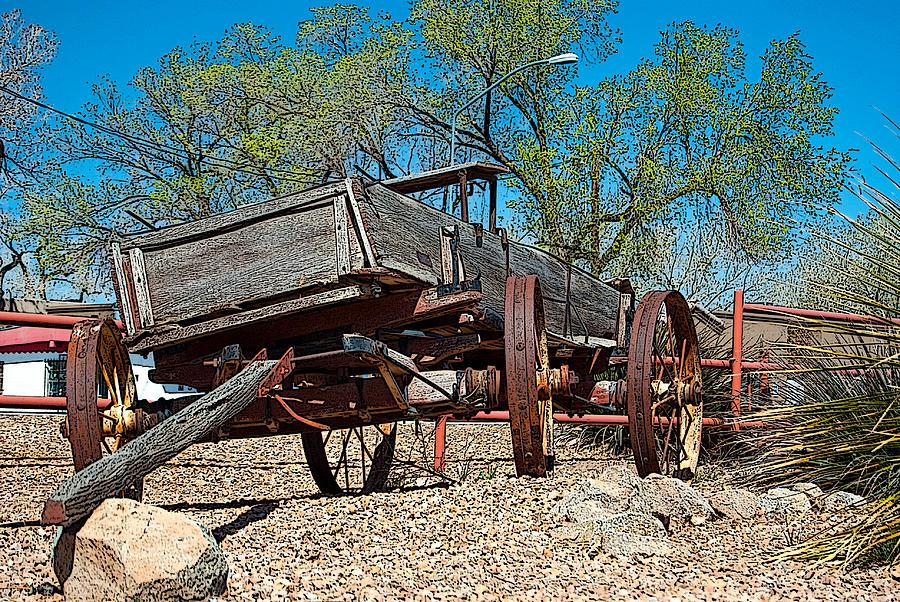 Landscape Photograph - The Wagon by Don Durante Jr
