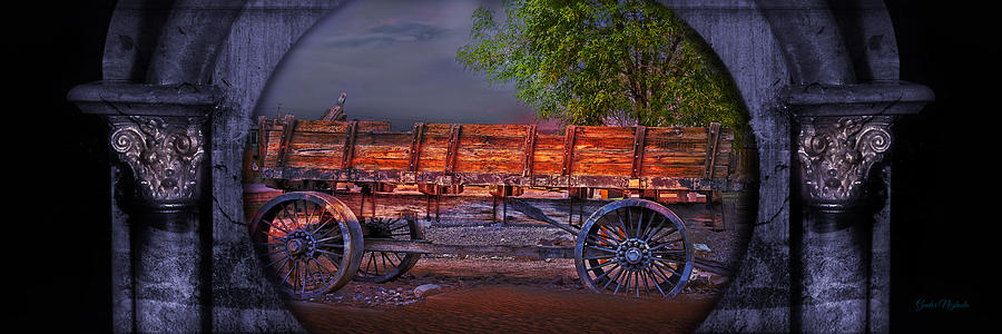 Aged Photograph - The Wagon by Gunter Nezhoda
