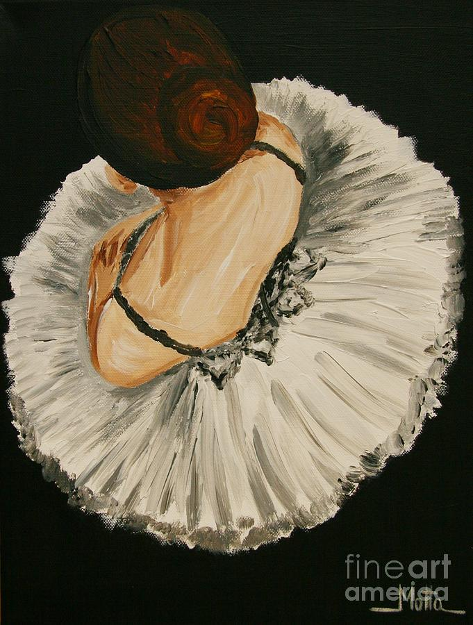 Ballet Painting - The Wait by Cris Motta