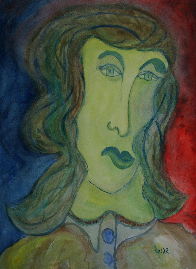 Portraits Painting - The Wait  by Oscar Penalber