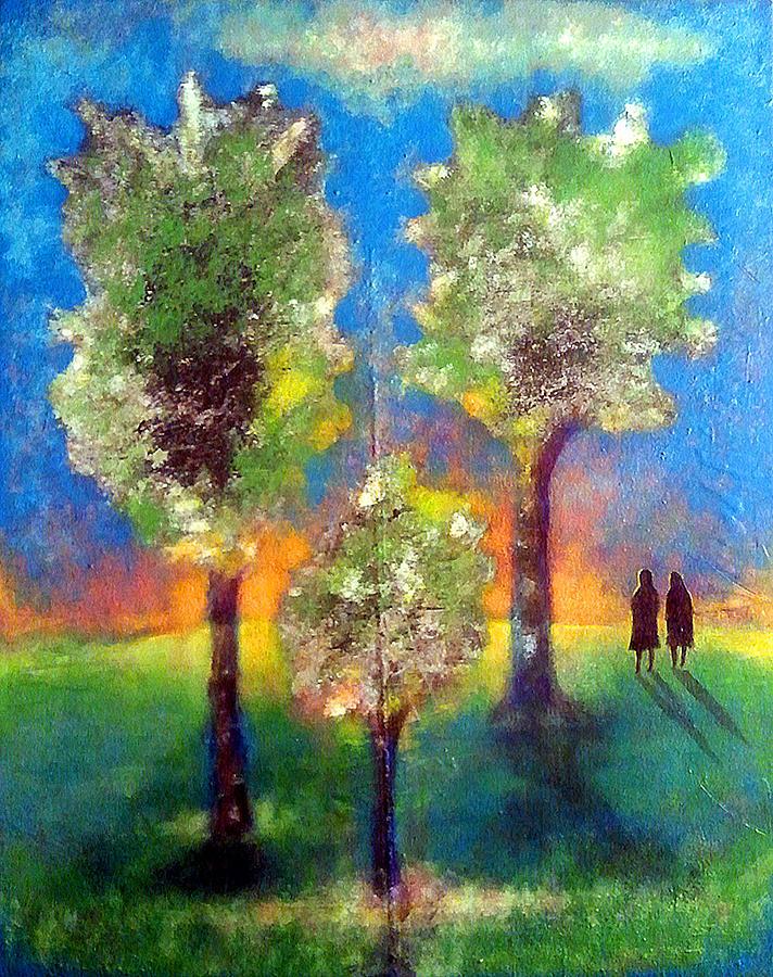 Landscape Painting - The Wait by Phil Rodriguez