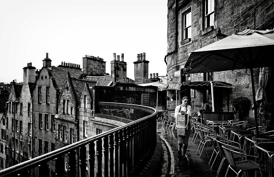 Rain Photograph - The Waitress by Julien Oncete