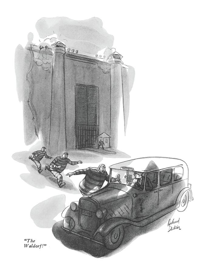 The Waldorf Drawing by Richard Decker