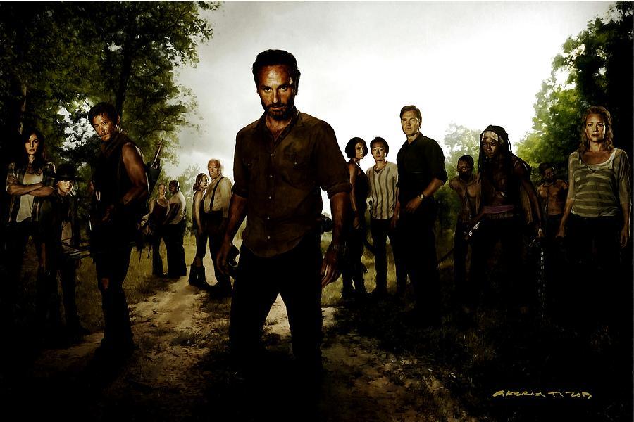 Andrea Digital Art - The Walking Dead by Gabriel T Toro