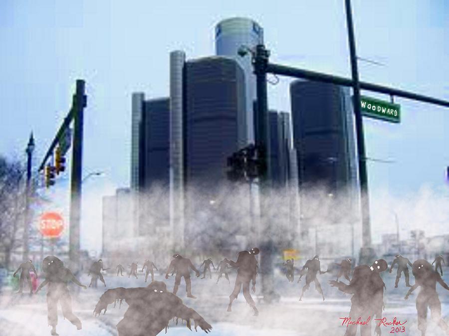Zombies Digital Art - The Walking Dead by Michael Rucker