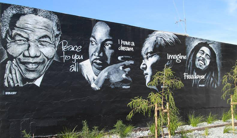 Madiba Painting - The Wall Of Peace Love And Compassion by Bruce McLachlan