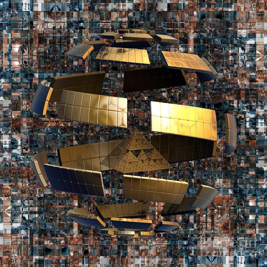 Nicholls Digital Art - The Wandering Pyramid by Peter R Nicholls