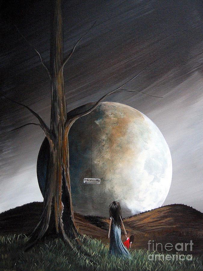 Surreal Painting - The Warning By Shawna Erback by Shawna Erback