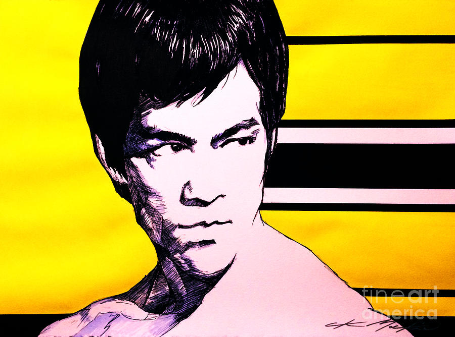 Brucelee Painting - The Warrior by Chris Mackie
