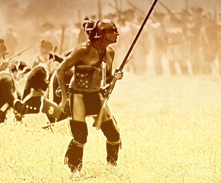 Iroquois Photograph - The Warrior by Jim Cook