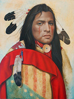 American Indian Painting - The Warriors Prayer by K Henderson