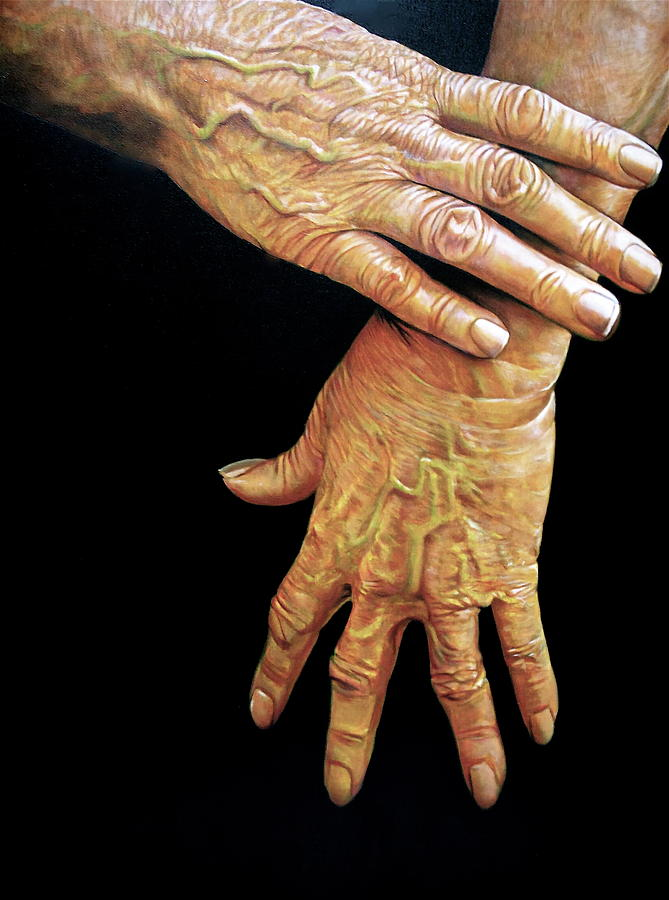 Hands Pastel - The Washer Woman by Curtis James