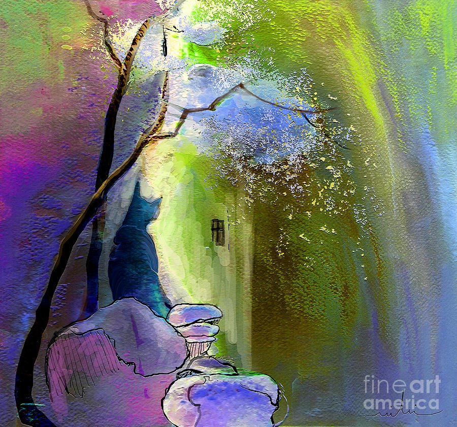 Dream Painting - The Watcher by Miki De Goodaboom