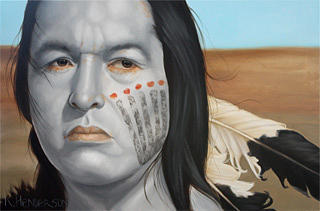 American Indian Painting - The Watchful Heart by K Henderson