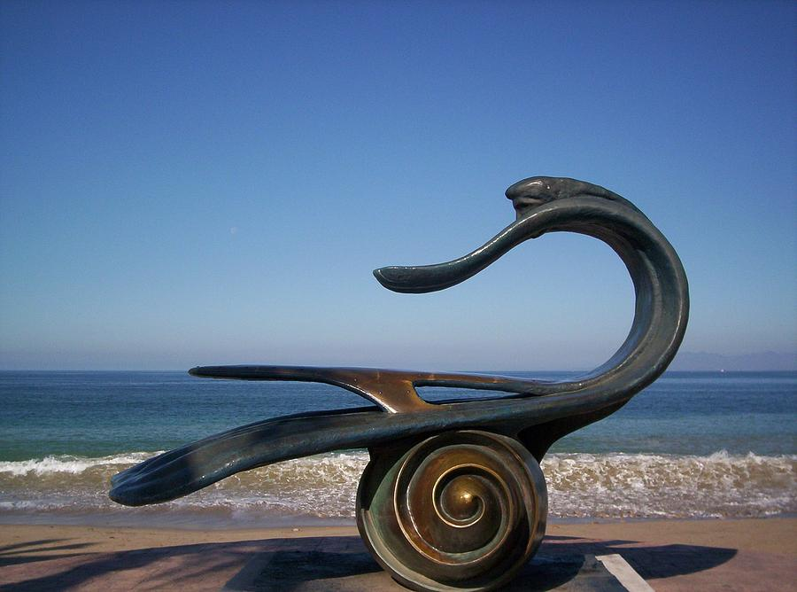 Bronze Photograph - The Water is Fine by J Andrel