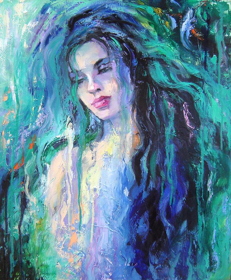 Painting - The Water by Nelya Shenklyarska