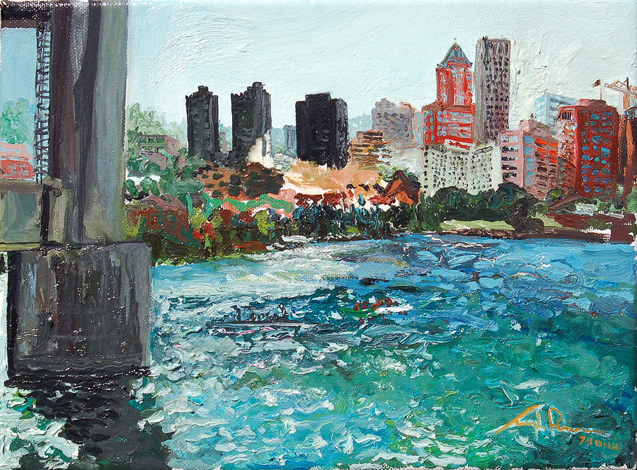 Waterfront Painting - The Waterfront by Joseph Demaree
