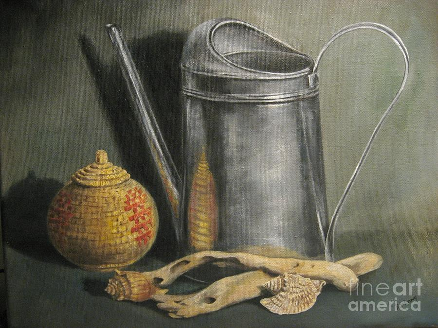 Watering Can Painting - The Watering Can by Patricia Lang
