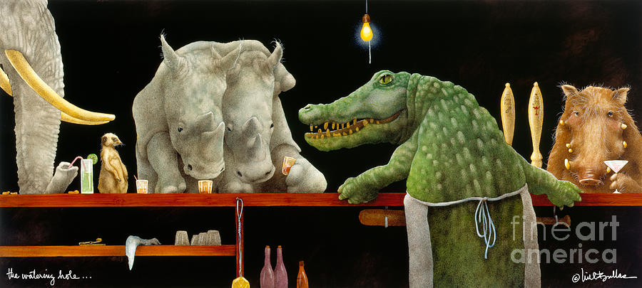 Will Bullas Painting - The Watering Hole... by Will Bullas