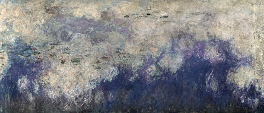 Les Nympheas Photograph - The Waterlilies - The Clouds Central Section 1915-26 Oil On Canvas See Also 64184 & 64186 by Claude Monet