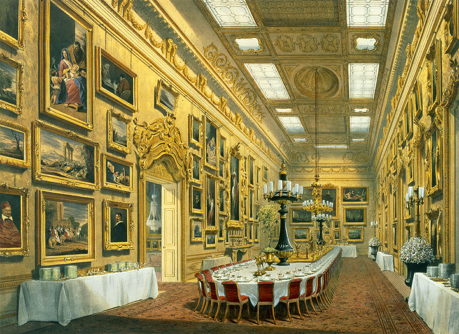 Hyde Park Corner Drawing - The Waterloo Gallery, Apsley House by Richard Ford