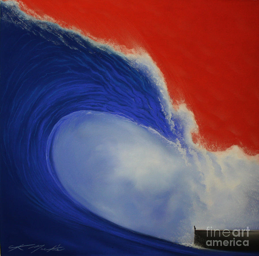 Wave Painting - The Wave II by Chris Mackie